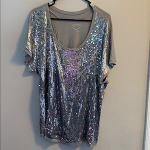 Silver sequined shirt